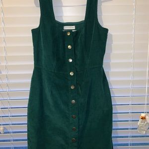 Button down overall dress